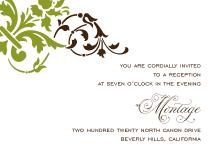Reception Card - florentine