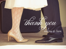 Wedding Thank You Card with photo - florentine