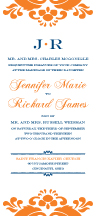 Wedding Invitations - monogram damask