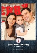 Christmas Cards - denim christmas