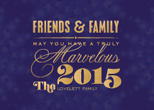 New Years Cards - marvelous new year