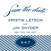 Save the Date Card - freeport sailboat