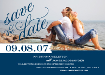 Save the Date Card with photo - freeport sailboat