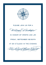 Reception Card - freeport sailboat