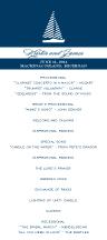 Wedding Program - freeport sailboat