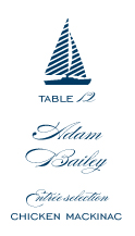 Place Card - freeport sailboat