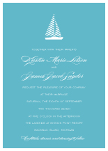 Wedding Invitations - freeport sailboat