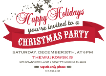 Holiday Party Invitations - snowflake christmas party