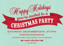 Holiday Party Invitations - parchment christmas party