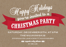 Holiday Party Invitations - kraft christmas party