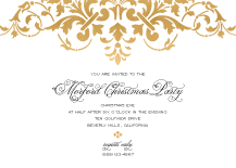 Holiday Party Invitations - florentine christmas party