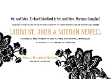 Wedding Invitations - batik floral