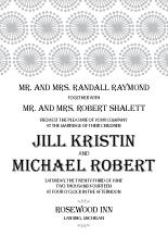 Wedding Invitations - sunburst