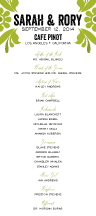 Wedding Program - modern damask