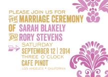Wedding Invitations - modern damask