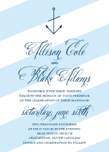 Wedding Invitations - nautical stripe