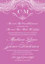 Wedding Invitations - monogram script