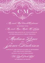 Wedding Invitations - monogram script