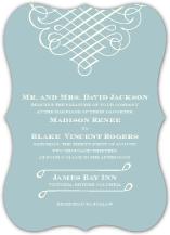 Wedding Invitations - calligraphic flourish