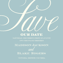 Save the Date Card - calligraphic flourish
