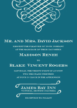 Wedding Invitations - calligraphic flourish