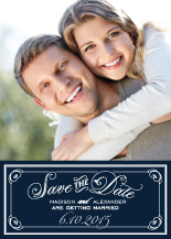 Save the Date Card with photo - posie