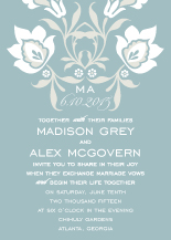 Wedding Invitations - posie