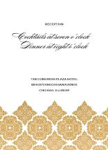 Reception Card - baroque