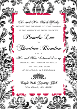 Wedding Invitations - vintage damask