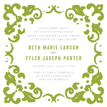 Wedding Invitations - rustic garden