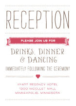 Reception Card - whimsical union