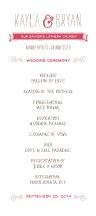 Wedding Program - whimsical union