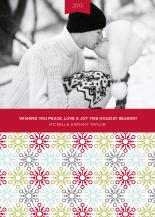 Christmas Cards - mod snowflakes