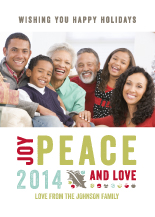Holiday Cards - rustic peace photo