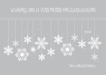 Christmas Cards - frosted snowflakes