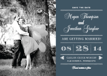 Save the Date Card with photo - modern meets vintage