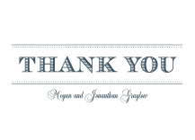 Wedding Thank You Card - modern meets vintage