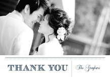 Wedding Thank You Card with photo - modern meets vintage