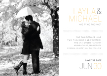 Save the Date Card with photo - fresh typography