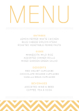 Menu - fresh typography