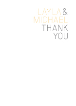 Wedding Thank You Card - fresh typography