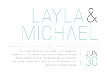 Wedding Invitations - fresh typography