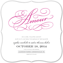 Wedding Invitations - french flourishes