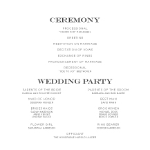 Wedding Program - french flourishes