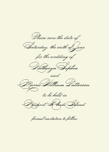 Save the Date Card - classic calligraphy