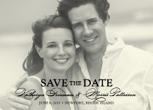 Save the Date Card with photo - classic calligraphy