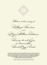 Wedding Program - classic calligraphy