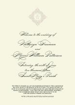Wedding Program - classic calligraphy
