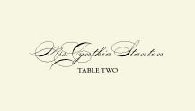 Place Card - classic calligraphy