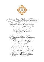 Wedding Invitations - classic calligraphy